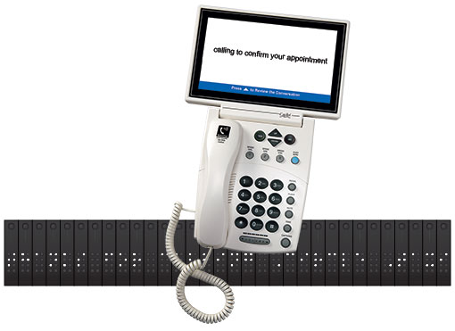 Image of CapTel Phone with braille capabilities